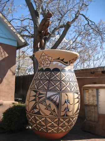 Albuquerque Old Town: Largest clay pot in North American located in Old Town Albuquerque. It's not the largest ball of
