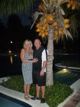 Grand Bahia Principe Coba: night time by the pool.