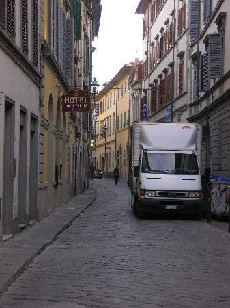 Porta Faenza: On Faenza Street. . .approaching hotel