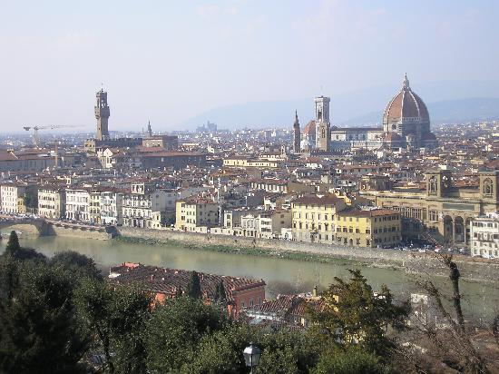 Porta Faenza: View of the city from Piazelle Michelangelo