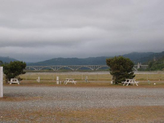 Oceanside RV Park, Gold Beach, looking east