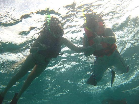 The Original Snorkeling Adventure: My husband & I Guide took photo