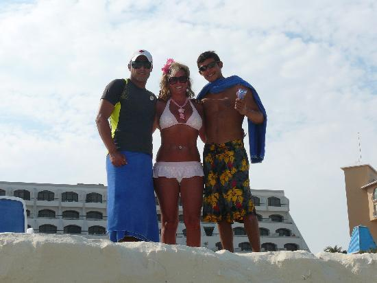 Golden Parnassus All Inclusive Resort & Spa Cancun: Kat, Carlos, and Angel.