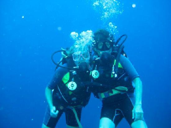 Bananarama Dive & Beach Resort: Diving with my friend Timberly