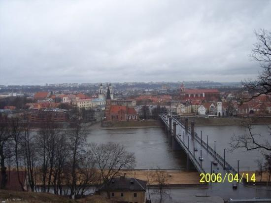 Standing on a hill overlooking Kaunas, Lithuania