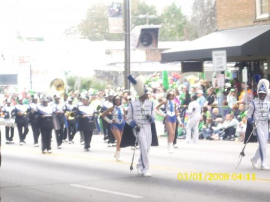 Savannah, GA: One marching band after the other..too many to count.