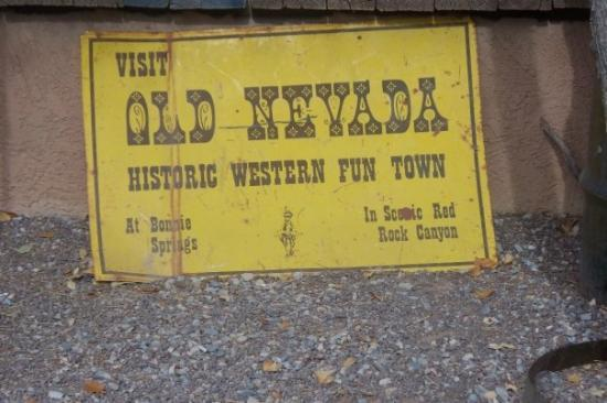 Adventure Photo Tours: The sign for Old Nevada