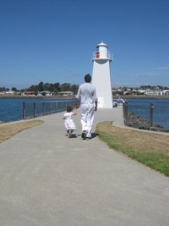 Launceston, Australia  Gavin and Sophia.  We loved our walk along the promenade.