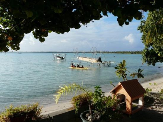 Maupiti Island, Fransk Polynesia: vue depuis  la salle à manger