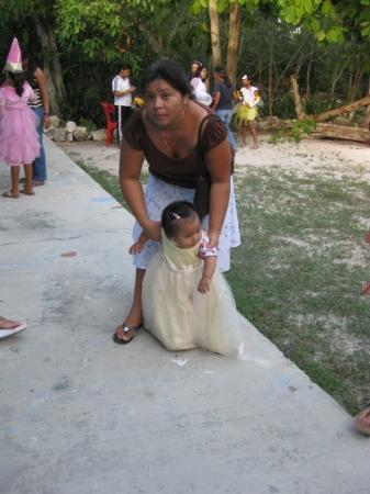 Akumal, Mexico: On of the small trick or treaters