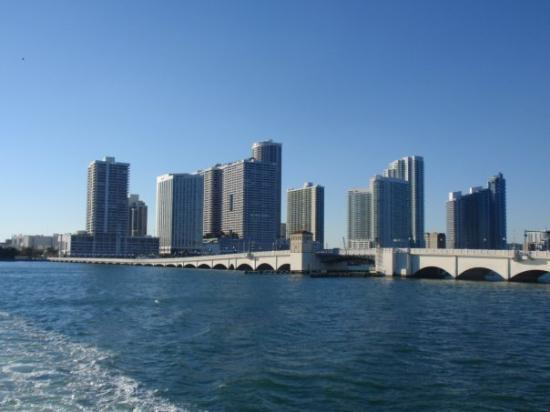 South Miami, FL: Downtown Miami from a boat.