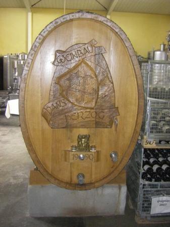 Hans Herzog Estate: Herzog wine barrel