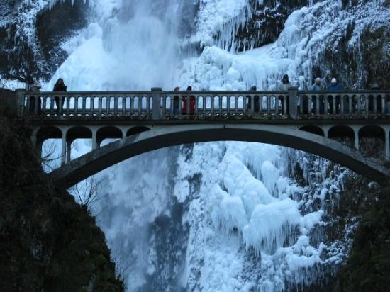 Cascade de Multnomah : Bridge at Multnomah Falls.