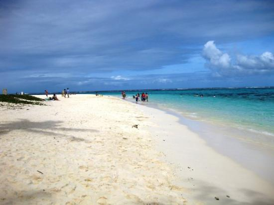 Saipan, Mariana Islands: The blue sky and white sand.