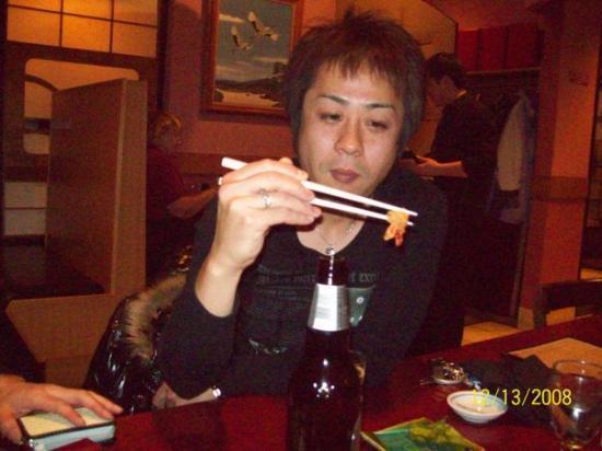 Fuka: Moromoto at Fuji's going home party