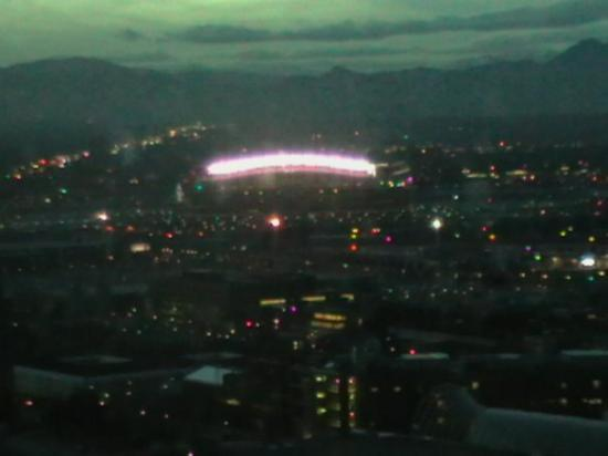 Sports Authority Field at Mile High: Denver Broncos football stadium from our room.