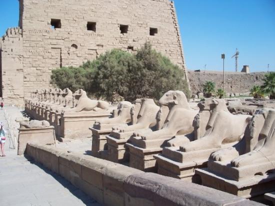 Karnak-tempelet: Karnak Temple in Luxor.