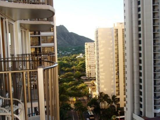 Oahu, HI: you can see Diamond Head from our room