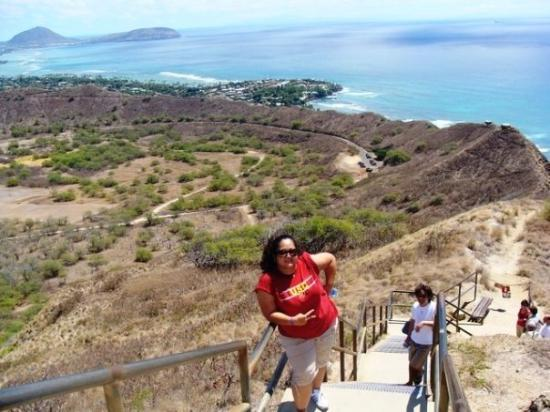Oahu, HI: they caught me on the lat steps before the top