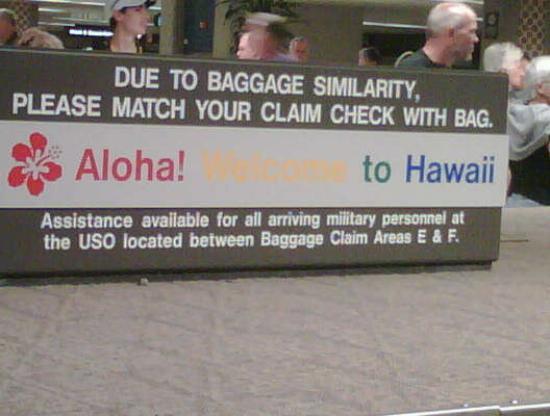 Oahu, HI: Baggage Claim