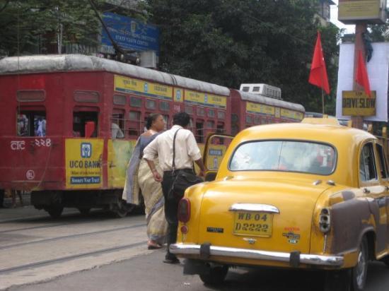 Calcutta, India: The Kolkatta Tram & Taxi