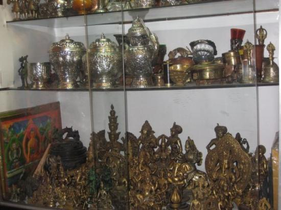 Calcutta, India: Tibetan Artifacts at Chumba Lama, New Market; Kolkatta