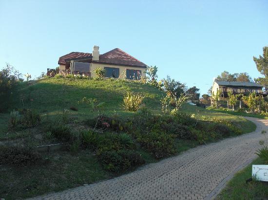 die Panorama Lodge mit Einfahrt