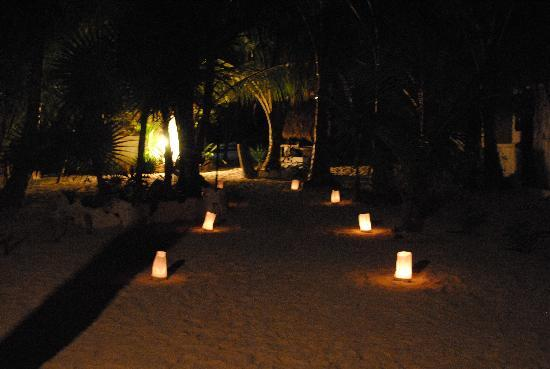 Playa Mambo: at night
