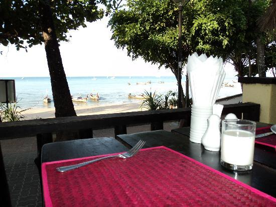 Phra Nang Inn: nice view from the bfast place