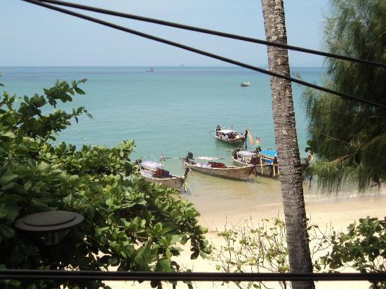 Phra Nang Inn: the view from our balcony