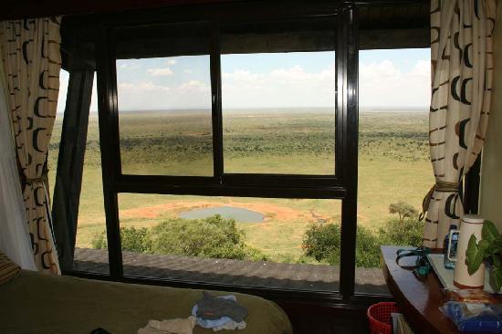 Voi Safari Lodge: Old view through new windows