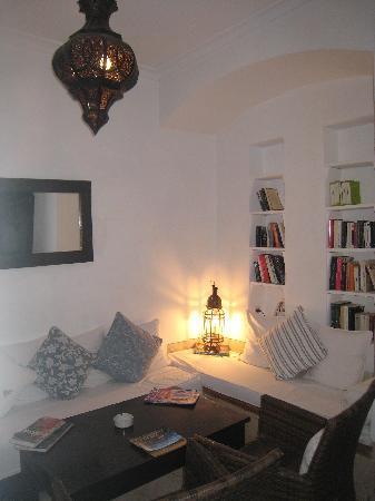 Dar Hanane: One of the courtyard lounge areas.