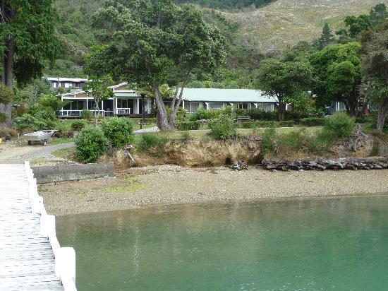 Raetihi Lodge: Approaching Raetihi by boat