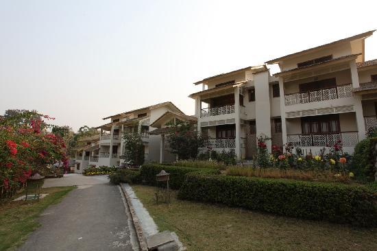 IORA - The Retreat,Kaziranga: A view of the Hotel Iora, The Retreat at Kaziranga National Park, Assam, India