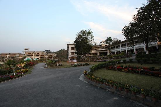 IORA - The Retreat,Kaziranga: A view of the Hotel Iora, The Retreat at Kaziranga National Park, Assam, India