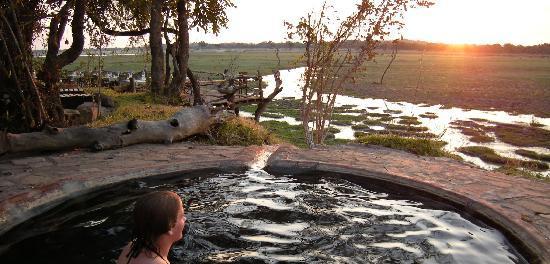 Kafunta River Lodge: In the hot tub enjoying the scenery