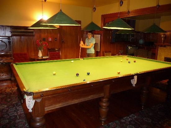 Cheltenham House: The Pool table