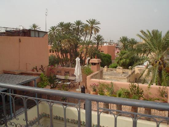 Riad Dar Nimbus: vue terrasse