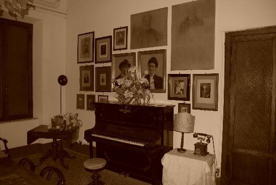 Royal Victoria Hotel: The piano room....