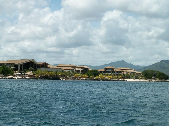 InterContinental Mauritius Resort Balaclava Fort: hotel view from the ocean