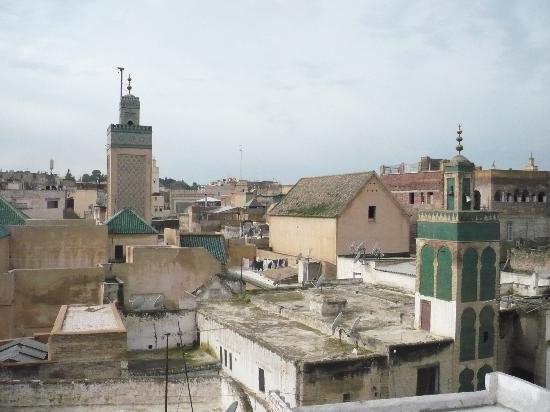 Riad Hala: Vue sur la médina depuis la terrasse