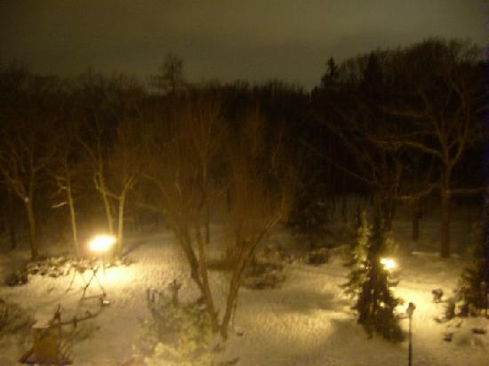 Globus: View from the room (at night)