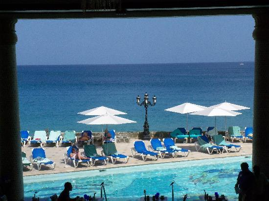 Sandals Regency La Toc: View from the balcony of the reception area