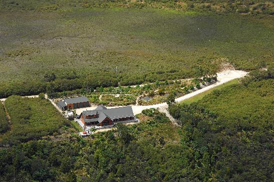 BIrds Ferry Lodge from the air