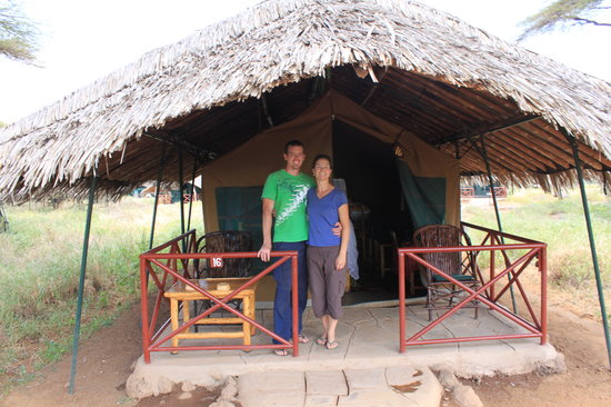 Wildlife Kenya Safaris - Day Trips: Kibo luxury tented accomodation in Amboseli