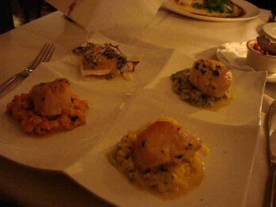 Wyndham Grand Rio Mar Puerto Rico Golf & Beach Resort: Capesante Trio - Sea Scallops on Risotto 3 ways