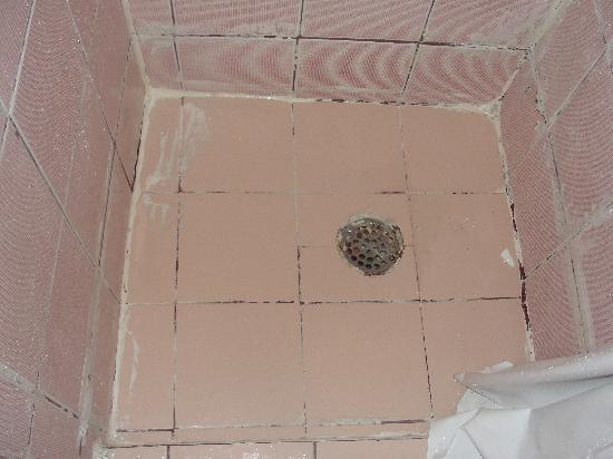 Miami Sun Hotel: shower floor