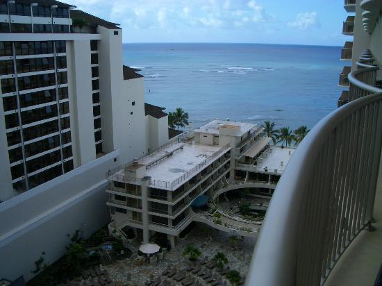 """Outrigger Reef Waikiki Beach Resort: View from our """"ocean view"""" room balcony"""