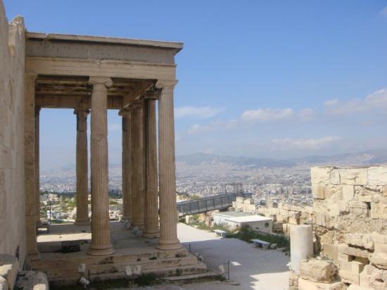 Temple of Athena Nike, next to the Parthenon on Acropolis.