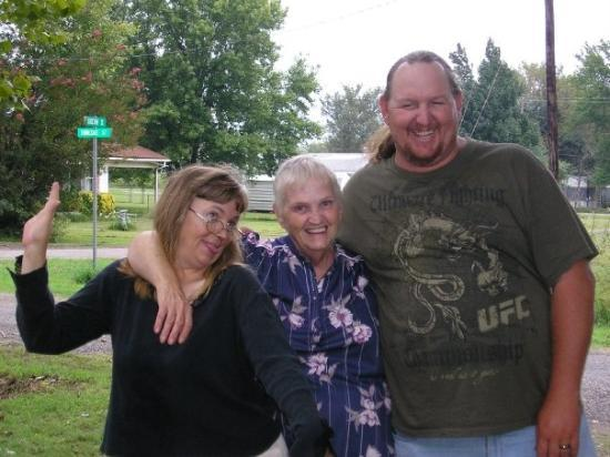 Bokoshe, OK: Brian, my mother-in-law Edna and my sister-in-law Cheryl